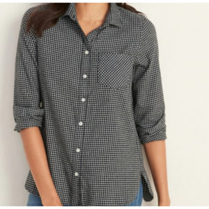 Old Navy Classic Shirt Patterned Flannel Large